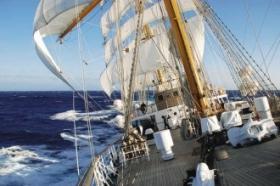 VIAJE DE INSTRUCCIÓN: La fragata Libertad llegó a Grecia