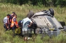 Desmochado: Vuelco sobre ruta provincial 27 arrojó un herido de consideración