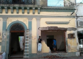 PROYECTO GOYA DENUNCIA LA DESTRUCCIN DE LA FACHADA DE UNA CASA HISTRICA