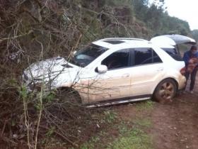Por la lluvia despistó vehículo que iba de Goya a Corrientes y su conductor resultó ileso