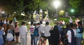 Gerardo Bassi inauguró el mural Goya de Sueños en la plaza Mitre