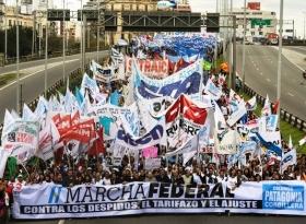 Docentes de todo el país iniciarán la Marcha Federal, que culminará el miércoles en Plaza de Mayo