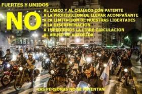 """""""LAS PERSONAS NO SE PATENTAN: Goya se suma a la manifestación nacional de motociclistas"""