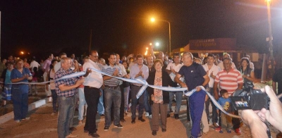 El Intendente Bassi inauguró 800 metros de cordón cuneta en calle Santa Fe