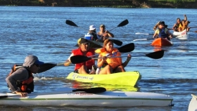 CIUDAD DEL DEPORTE: Goya tiene remos y botes listos para la 1ª Travesía Náutica en la Reserva del Isoró