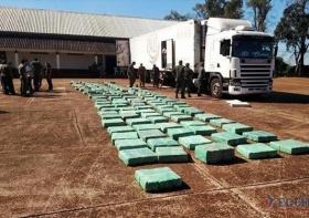 Secuestraron cerca de 4.000 kilos de marihuana en Santo Tomé