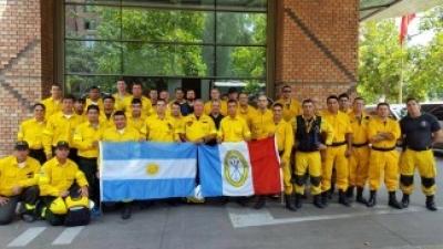 """Misión argentina de Cascos Blancos en Chile: """"El trabajo es agotador y la situación es brava"""""""