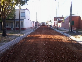 OBRA DE CORDON CUNETA Y ALUMBRADO SE INAUGURA EN BARRIO BELGRANO