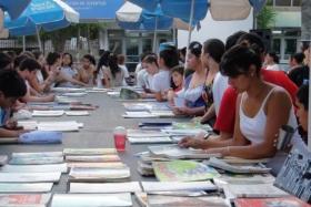 EN CONFERENCIA DE PRENSA: Anuncian la 8ª Feria del Libro Usado que se realizará del 15 al 17 de marzo en la plaza Mitre