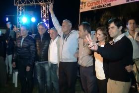 Camau y Gerardo acompañaron a Luís Vicentín en el lanzamiento de su candidatura para intendente de Carolina