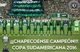 Tras la tragedia: Chapecoense fue declarado campeón de la Copa Sudamericana